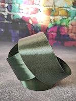 Атласная лента темно-зеленая , 4 см*25м