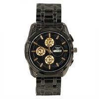 Часы мужские наручные Tissot Couturier T035.614 на стальном ремешке [реплика] (Тёмная ночь)