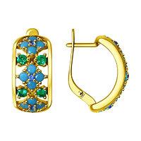 Серебряные серьги с ситаллом SOKOLOV 93020858