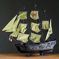 """Корабль сувенирный большой """"Чёрная жемчужина"""", борта тёмные"""