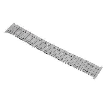 Ремешок для часов 20 мм, металл, симметричное крепление звеньев по бокам, серебро