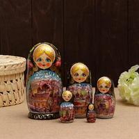 Матрешка 'Россия', зима, 5 кукольная, 19 см