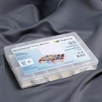 Контейнер для ниток мулине с бобинами и съёмными ячейками, 27 x 18 x 4,2 см, цвет прозрачный