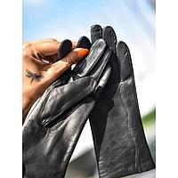 Перчатки женские, размер 6,5, цвет чёрный