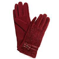 Перчатки женские, размер 7, цвет бордовый