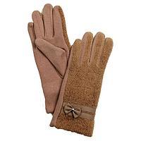 Перчатки женские, размер 8, цвет бежевый