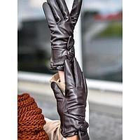 Перчатки женские, размер 8,5, цвет тёмно-коричневый
