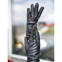 Перчатки женские, размер 7, цвет чёрный