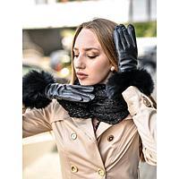 Перчатки женские, размер 7,5, цвет чёрный