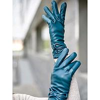 Перчатки женские, размер 8, цвет бирюзовый