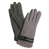 Перчатки женские, размер 8, цвет серый, светло-серый