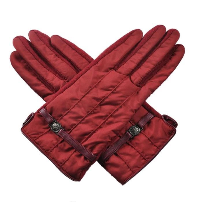 Перчатки женские, размер one size, цвет бордовый