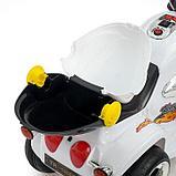Электромобиль «Чоппер», с аккумулятором, световые и звуковые эффекты, цвет белый, фото 6