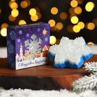 Мыло в форме снежинки 'С Рождеством Христовым!'