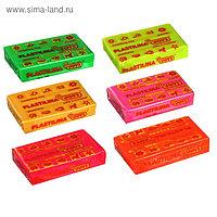 Пластилин 50 г JOVI, флуоресцентный, 6 цветов, МИКС (цена за 1 шт.)