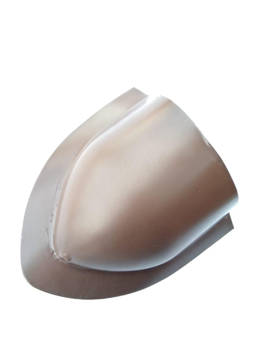 Заглушка конька круглого Глянец Коричневый RAL 8017