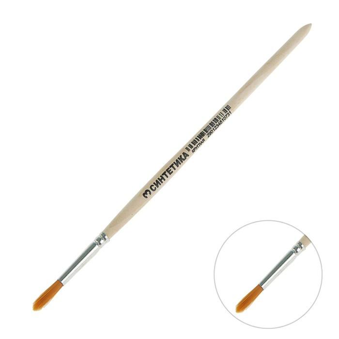 Кисть Синтетика Круглая № 3 (диаметр обоймы 3 мм; длина волоса 16 мм) ручка дерево, Calligrata