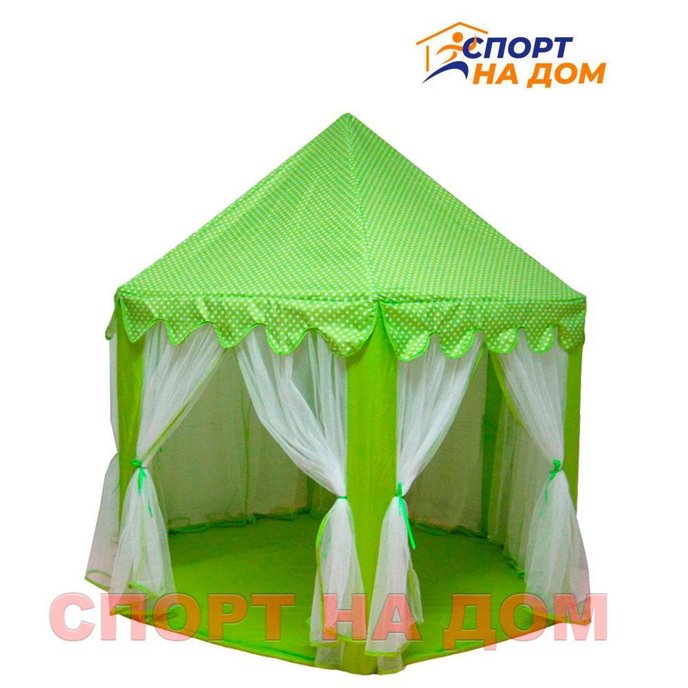 Детский шатер (Замок) зеленый