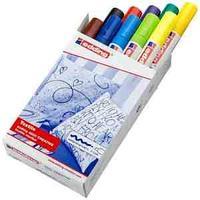 "Набор маркеров по ткани Edding ""4500 BASIC"" 10цв., 2,0-3,0мм, картон, европодвес"
