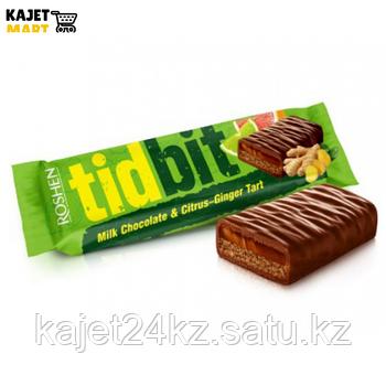 Шоколад Рошен TIDBIT Имбирно-цитрусовый тарт 70г.