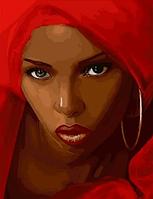 """Картина по номерам """"Мулатка в красном"""", 40х50 см"""