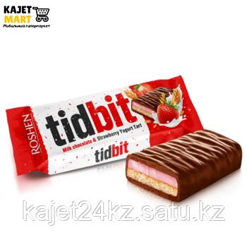 Шоколад Рошен TIDBIT Клубнично-йогуртовый тарт 70г.