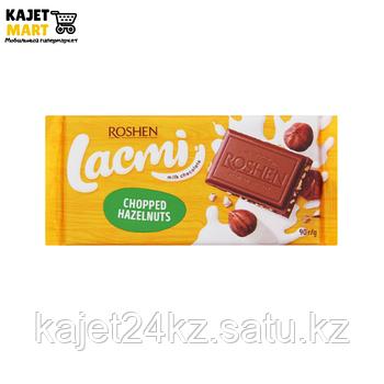 Шоколад молочный Lacmi дробленный лесной орех 90г.