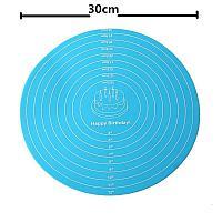 Кухонный круглый силиконовый коврик для выпечки d 30