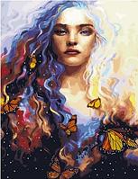 "Картина по номерам ""Бабочки в волосах"", 40х50 см"
