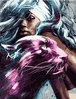 """Картина по номерам """"Пантера и девушка"""", 40х50 см"""