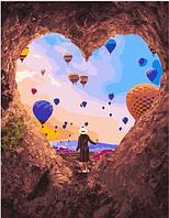 "Картина по номерам ""Сердце из камня"" 40х50 см"