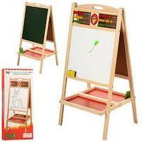 Двухсторонняя доска для рисования со счетами и магнитами(детская)