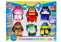 Набор трансформеров «Робокар Поли», 6 героя