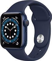 Смарт-часы Apple Watch Series 6 44mm Blue Aluminium Case with Sport Band M00J3GK/A синий