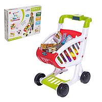 Детская тележка для супермаркета 922-76 с музыкой и продуктами