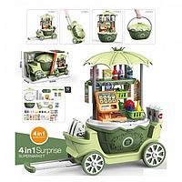 Игровой набор Pituso Супермаркет на колесиках 4в1, 50 элементов