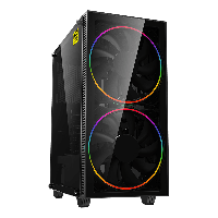 Корпус ПК без БП GameMax Black Hole ATX, 2x200mm ARGB,3.5* (HDD)х2, 2.5* (SSD)х2, USB2.0х1, USB3.0х1, HD