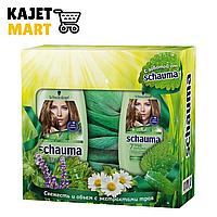 Подарочный Набор Schauma «7 Трав»: Шампунь 225 Мл, Бальзам 150 Мл, Шарф
