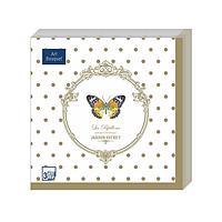 "Салфетки 33х33см, 3 сл.,""Бабочки de luxe"" Бумага, 20 шт"