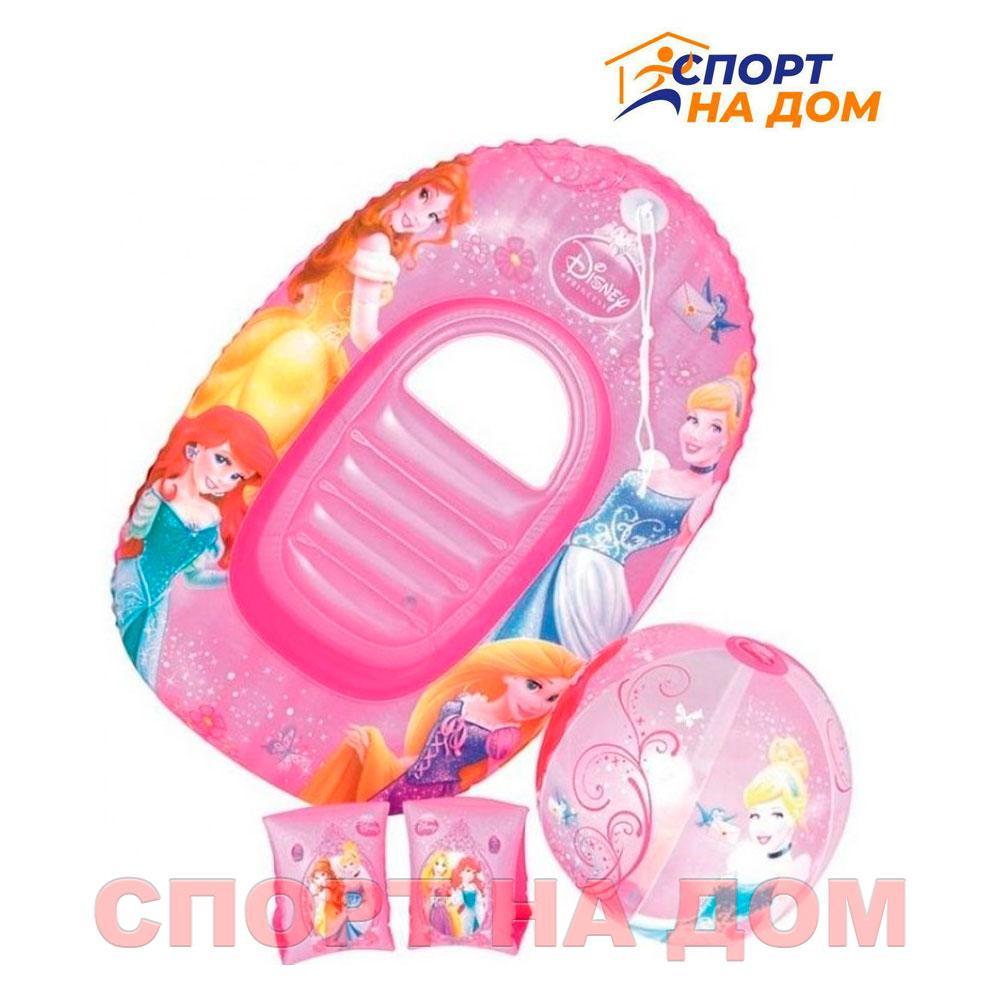 Надувной детский пляжный набор (мяч, нарукавник и круг)