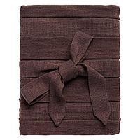 Плед Pleat, коричневый, фото 1