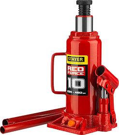"""Домкрат бутылочный  Stayer, 10 т., 230-460 мм, серия """"Red force"""" (43160-10_z01)"""