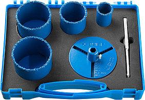 Набор кольцевых коронок ЗУБР, 6 шт.: Ø 33, 53, 67, 73 мм, карбид-вольфрамовое нанесение (33350-H6_z01)