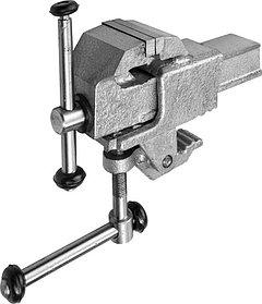Тиски Зубр 63 мм,  слесарные со струбциной (32600-63)