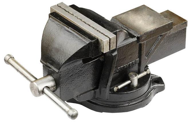 Тиски STAYER 120 мм,  слесарные поворотные  (3256), фото 2