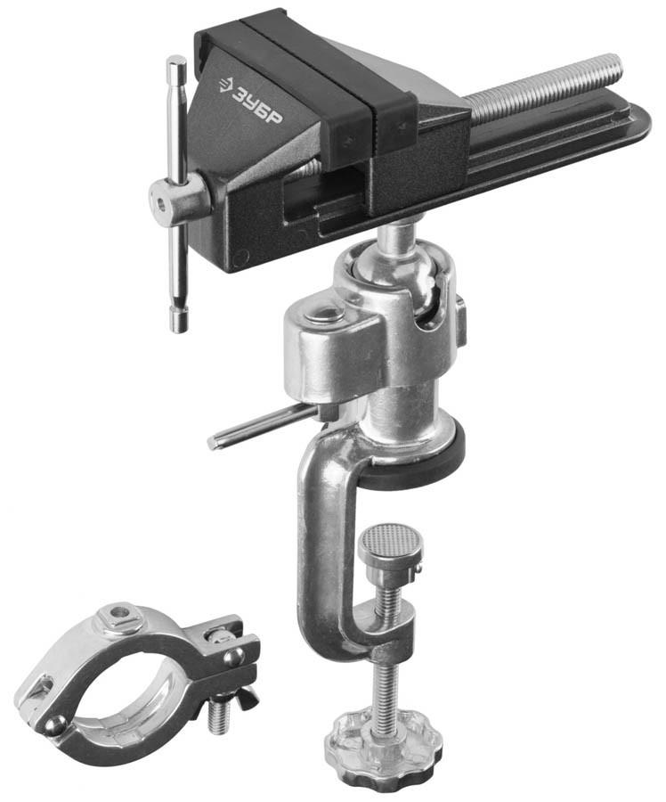 Тиски Зубр 75 мм,  шарнирно-поворотные для точных работ с зажимом для дрели  (32487-75)