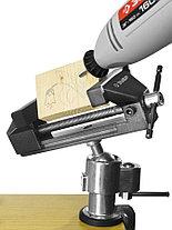Тиски Зубр 75 мм,  шарнирно-поворотные для точных работ с зажимом для дрели  (32487-75), фото 3