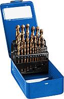 Набор сверл по металлу ЗУБР, 25 шт. (Ø 1-13 мм), класс A, сталь Р6М5 (29626-H25)