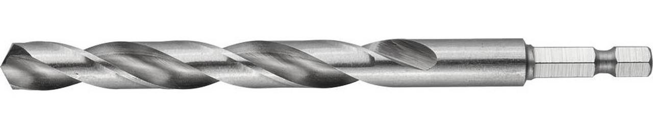 """Сверло спиральное по металлу ЗУБР Ø 10 x 133 мм, НЕХ 1/4"""", класс A, Р6М5 (29623-133-10)"""
