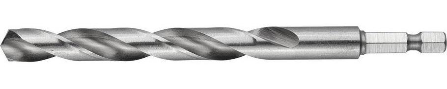"""Сверло спиральное по металлу ЗУБР Ø 10 x 133 мм, НЕХ 1/4"""", класс A, Р6М5 (29623-133-10), фото 2"""